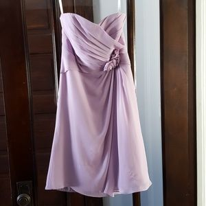 Alfred Angelo Lilac Bridesmaid Dress Style #7180S